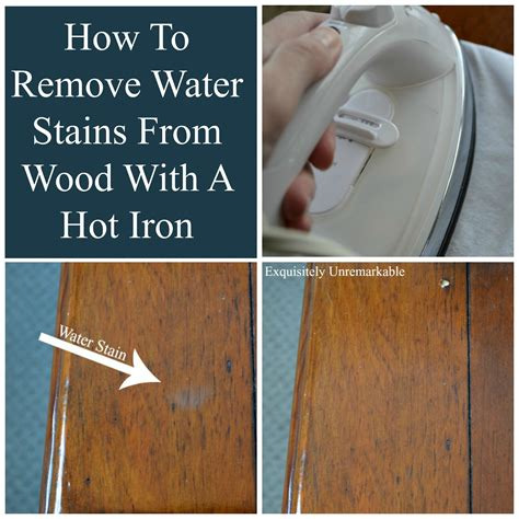 How To Remove Water Mark Wood