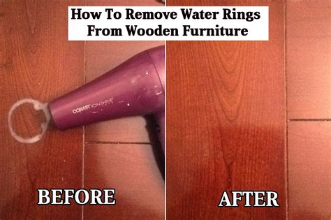 How To Remove Water Rings From Wood Furniture