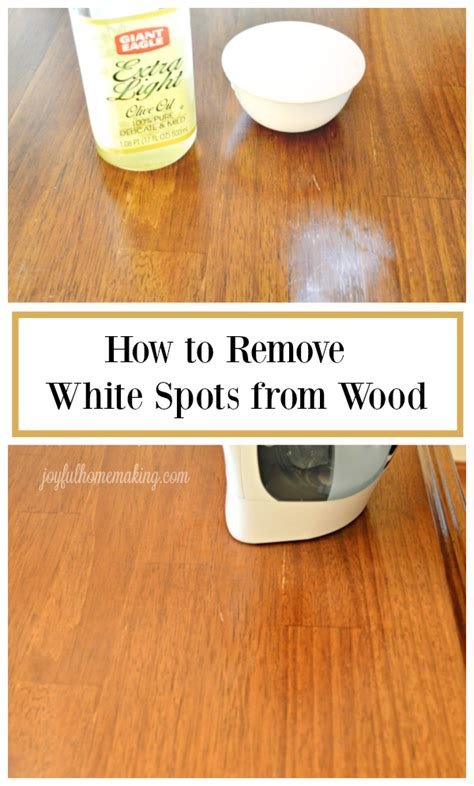 How To Remove White Spots From Wood Table