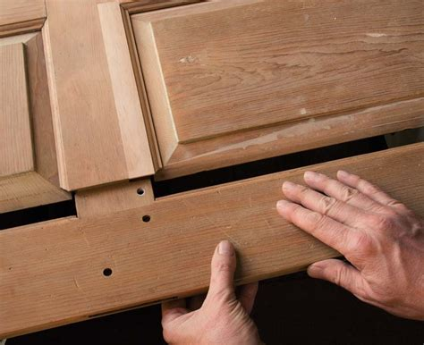 How To Repair A Wood Door Panel