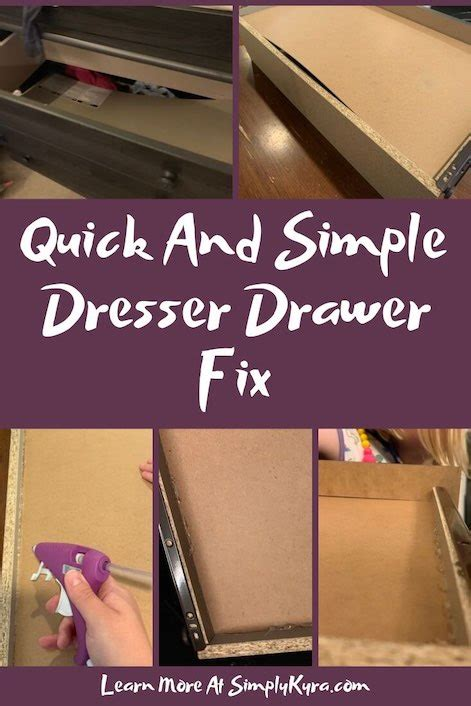 How To Repair Dresser Drawer Bottoms Up When I First Met