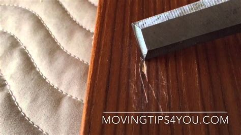 How To Repair Scratched Veneer Table Top