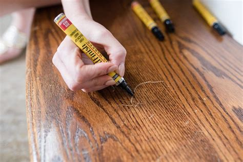 How To Repair Scratches On Wood Furniture With Minwax Stain Markers