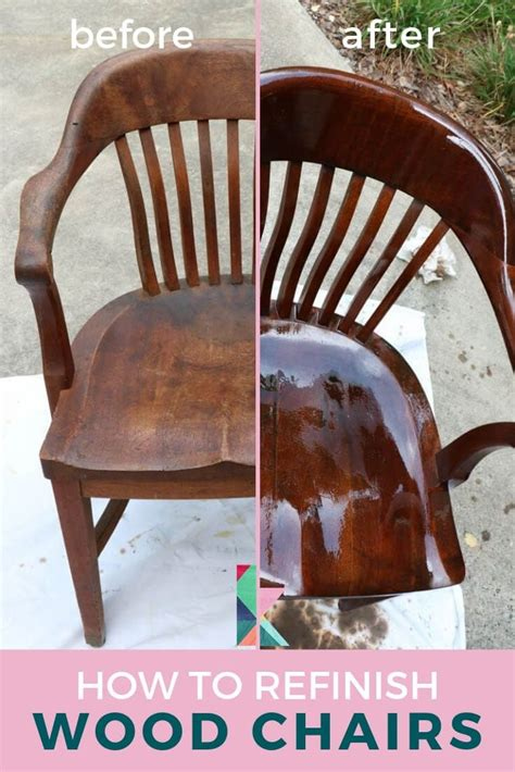 How To Restain Wood Chairs