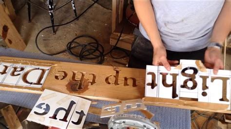 How To Route Letters In Wood