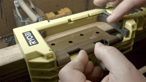 How To Router Door Hinges On A Door Jamb