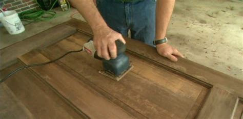 How To Sand And Stain Wood Door