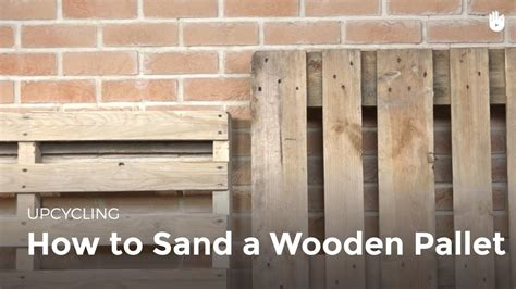 How To Sand And Stain Wood Pallets