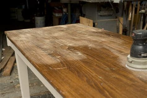 How To Sand Down A Table To Wood