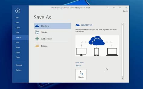 How To Save Word Document