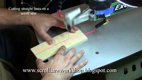 How To Saw A Straight Line With A Scroll Saw