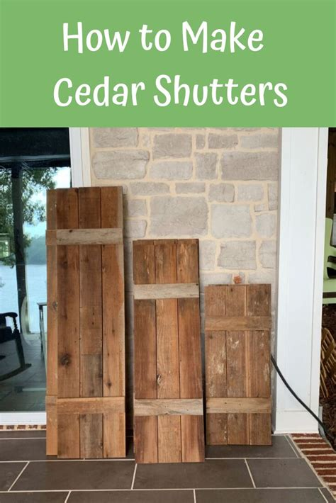 How To Seal Cedar Shutters