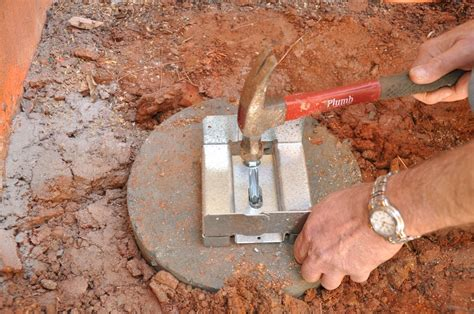 How To Secure A 6x6 Post To Concrete