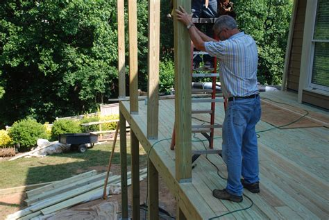 How To Set A Post For A Deck With A Roof