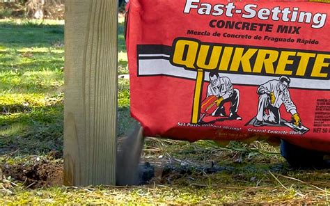 How To Set A Post In Concrete With Quikrete
