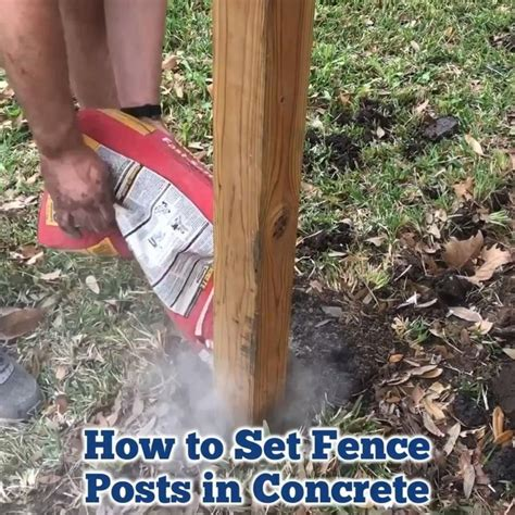 How To Set A Post In Concrete Youtube