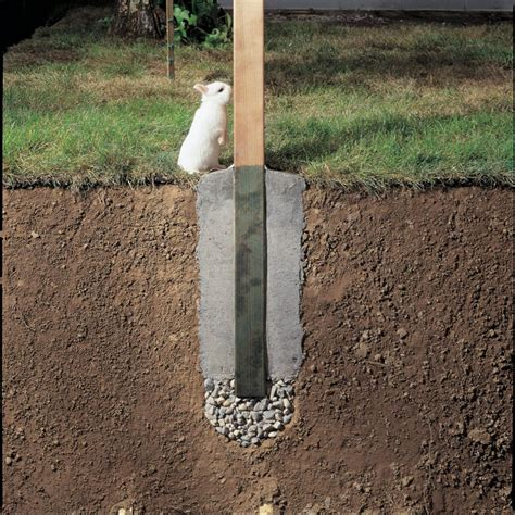 How To Set Wood Fence Posts In Concrete
