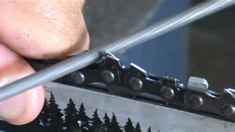 How To Sharpen A Saw Chain Like The Factory
