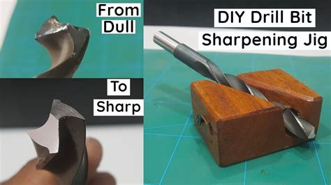 How To Sharpen Drill Bits With Wood Jig