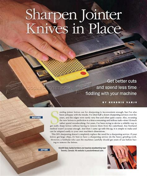 How To Sharpen Jointer Knives In Place