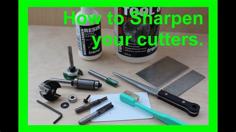 How To Sharpen Router Bits Youtube
