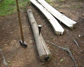 How To Split A Log In Half Lengthwise