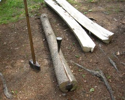 How To Split A Log Lengthwise