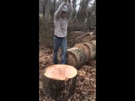 How To Split Large Pieces Of Wood By Hand