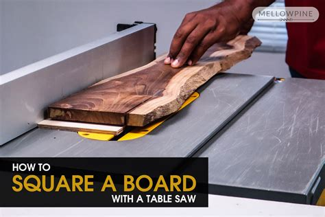How To Square A Board Without A Table Saw