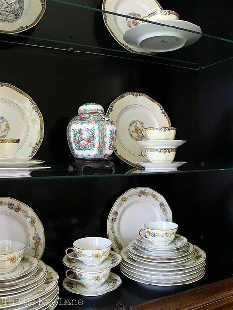How To Stack China In China Cabinets