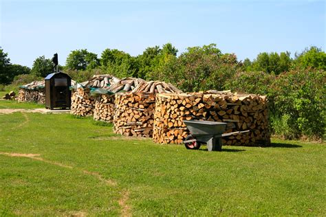 How To Stack Wood Pile