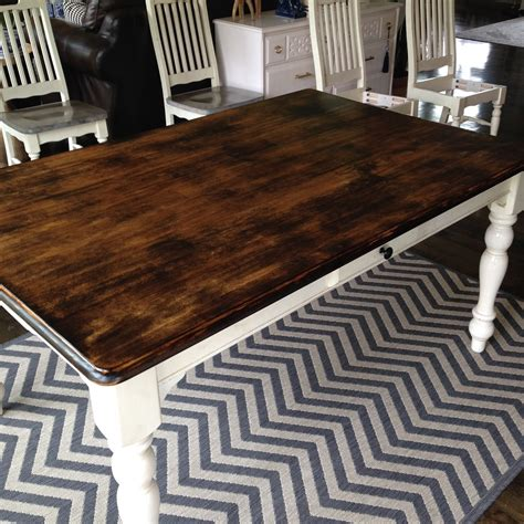 How To Stain A Barn Table