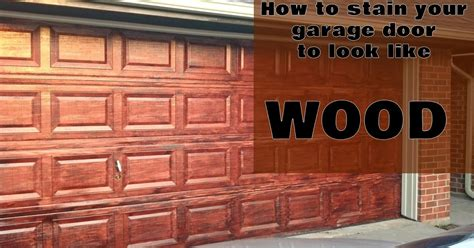 How To Stain A Door To Look Like Wood