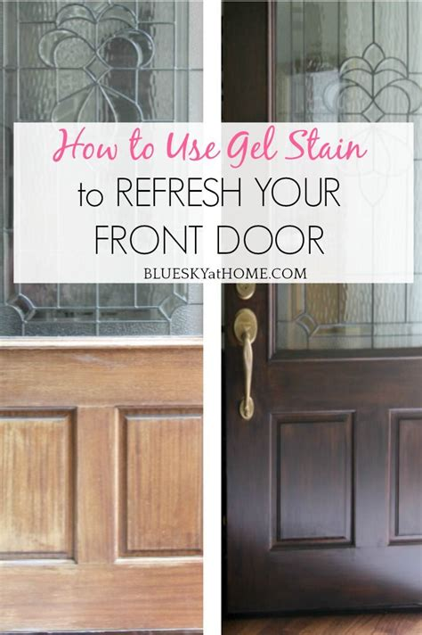 How To Stain A Door Using A Sponge