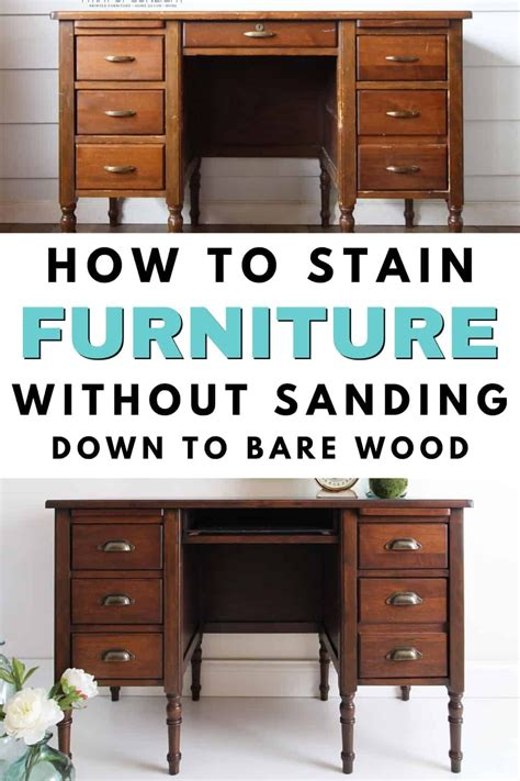 How To Stain A Dresser Darker