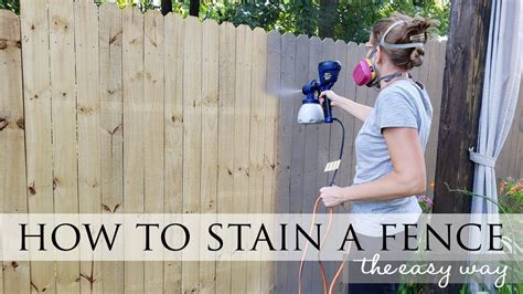 How To Stain A Fence Fast
