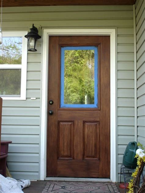 How To Stain A Fiberglass Door To Look Like Wood