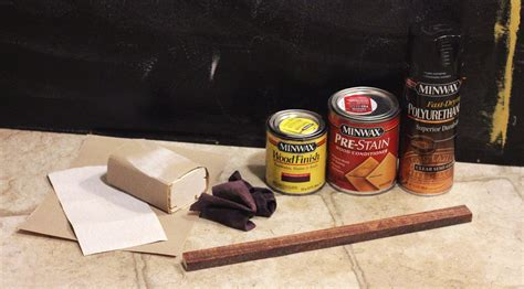 How To Stain A Long Piece Of Wood