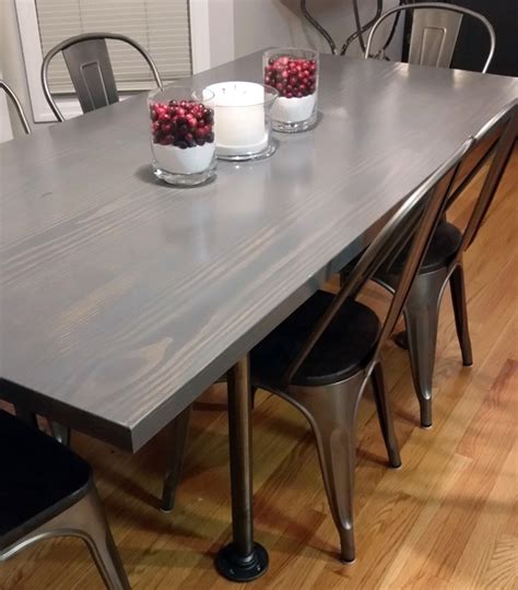 How To Stain A Table Gray