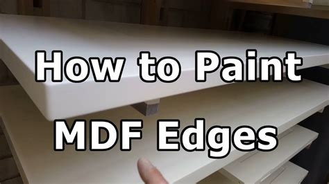 How To Stain A Table Top With Mdf On Edges