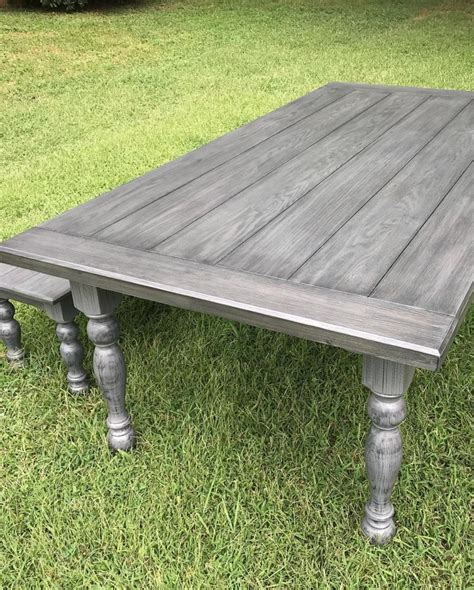 How To Stain A Table Weathered Gray