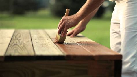 How To Stain A Wood Deck Youtube
