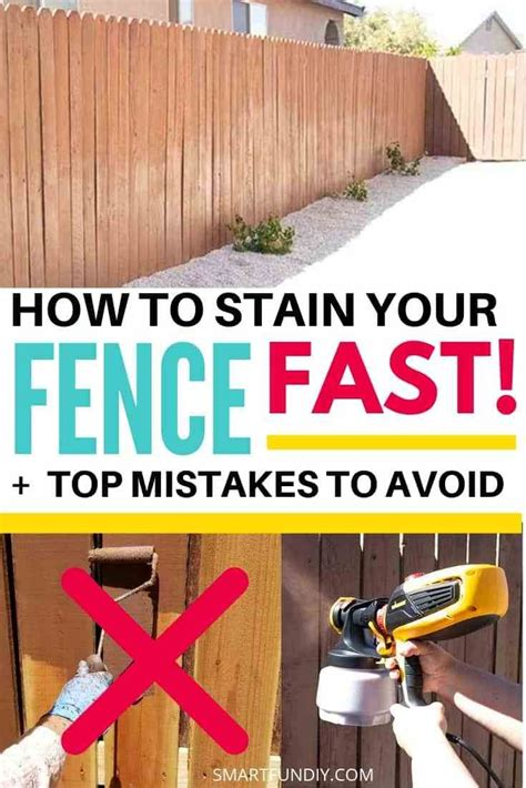 How To Stain A Wood Fence Fast