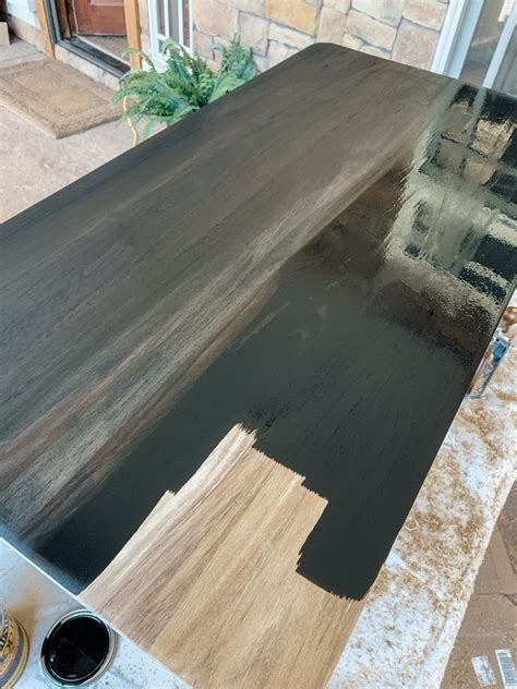 How To Stain A Wood Table Black
