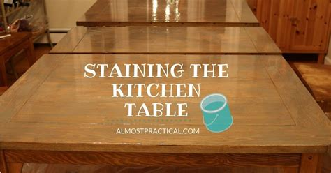 How To Stain And Polyurethane Table Top