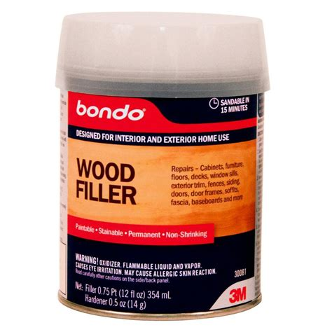 How To Stain Bondo Wood Filler