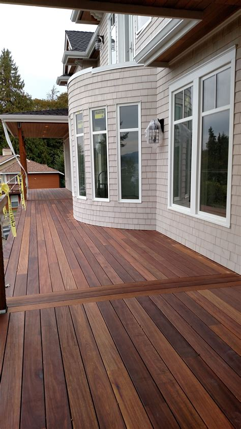 How To Stain Mahogany Decking