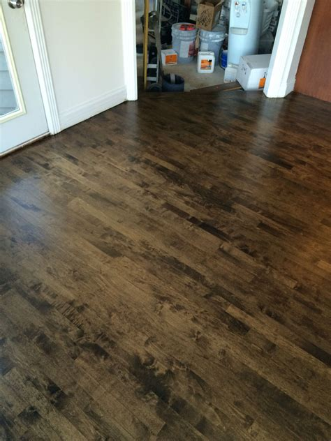 How To Stain Maple Floors Dark Circles