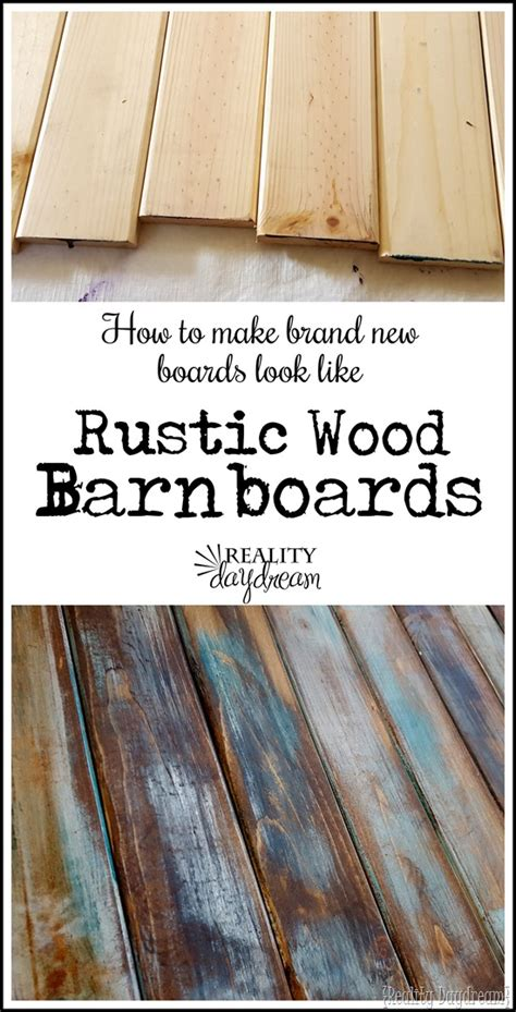 How To Stain New Wood To Look Like Barn Wood