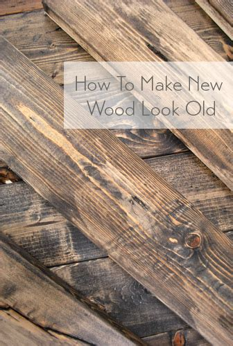 How To Stain New Wood To Look Old And Dark Like Tobacco